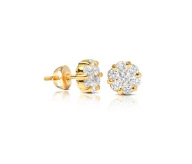 1ct Diamond Flower Earrings 14k $499!