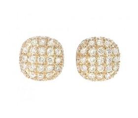 14k Diamond Cluster Stud Earrings 0.69ct