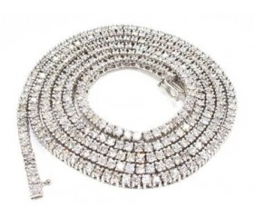 14k Stunner Chain 24 Inches, 4mm