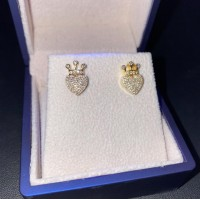 Queen Of Hearts 1ct Diamond 14k Earrings
