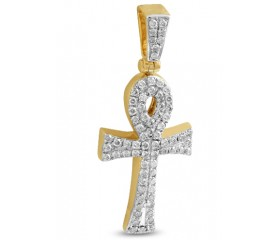 10K Diamond Ankh Cross Pendant (0.50ct)