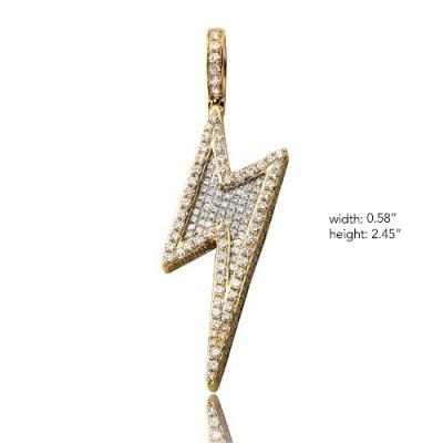 10K Diamond Lightning Bolt Pendant (3.75ct)