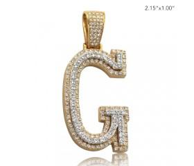 "10K DIAMOND TWO TONE INITIAL PENDANT - ""G"" (3.60CT)"