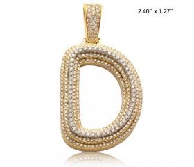 "10K DIAMOND 3-D BUBBLE INITIAL PENDANT - ""D"" (4.80CT)"