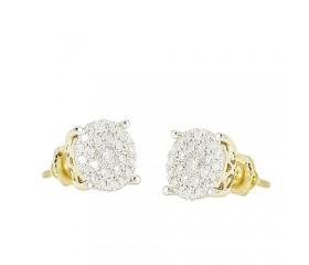 14K Diamond Luna Cluster Earrings (0.35ct - 1.50ct)