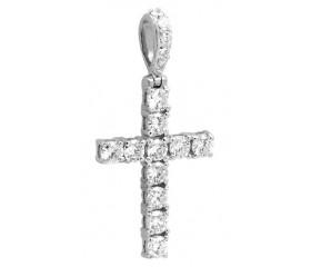 14K Diamond Cross Pendant (1.00ct)