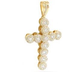 10K Diamond Cluster Design Cross (2.10ct)