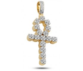 Diamond Ankh Eternal Life Pendant (1.15ct)