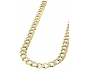 10K Pave Cuban Link Chain (Semi-Solid)