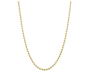 10K Dog Tag Ball Chain (Solid)