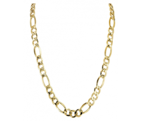 14K Figaro Chain (Semi-Solid)