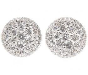 14K Diamond Stud Earrings 2.00ct