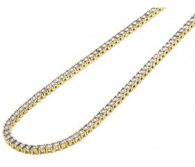 "Yellow Gold Tennis Chain 4 MM 16-24"""