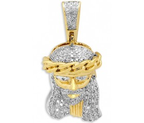 10K Diamond Miami Cuban Jesus Pendant (0.33ct)