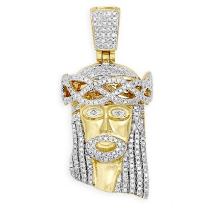 10K Diamond Jesus Pendant (0.50ct)