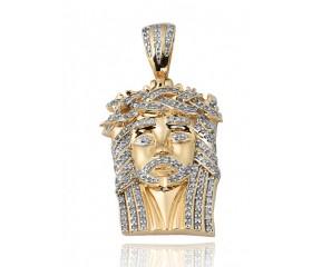 10K Diamond Jesus Pendant (0.40ct)