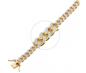 "10K Diamond Miami Cuban Link Bracelet 9"" (2.25ct)"
