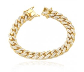 "14K Diamond Solid Miami Cuban Bracelet - 11MM - 8.75"" (7.24CT)"