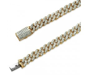 "10K DIAMOND MIAMI CUBAN BRACELET -7.5"" - 6MM (2.00CT)"