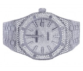 Audemars Piguet Royal Oak Steel 41MM VS Diamond Watch 33.0 Ct