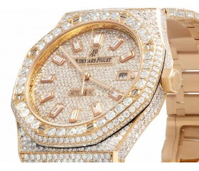Mens 41 MM Audemars Piguet Royal Oak 18k Rose Gold with VS diamond (31.25 Ct)