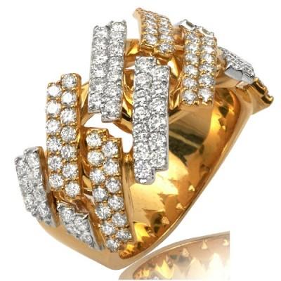 14K DIAMOND SQUARE LINK MIAMI CUBAN MENS RING - 15MM (2.75CT)