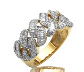 14k  MENS CUBAN BAGUETTE DIAMOND RING (2.55ct)