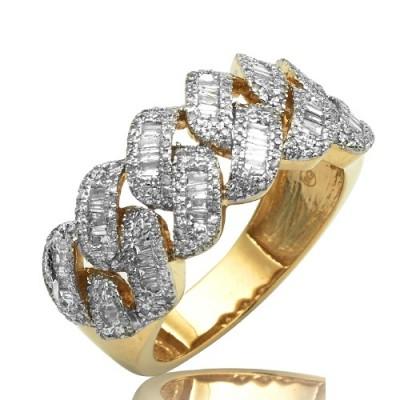 14k  MENS CUBAN BAGUETTE DIAMOND RING (2.55ct)