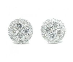 14k Prong Diamond Earrings 1.34ct