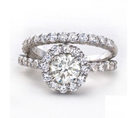 14K Diamond Antique Setting Prong Set Bridal Set (2.34ct)