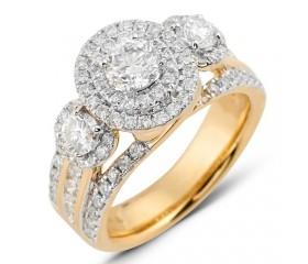 14K Diamond 3-Stone Ring (2.00ct)