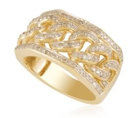 10K Diamond Cuban Ring (0.77ct)