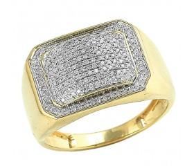 10K Diamond Miami Cuban Link Ring (0.75ct)