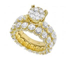 6cts Diamond Eternity Engagement Ring 14k Yellow Gold