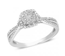 14K Diamond Cluster Ring (0.35ct)