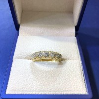 14K Eternity Pinky Ring