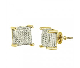 10K Diamond Dice Earrings (0.25ct)