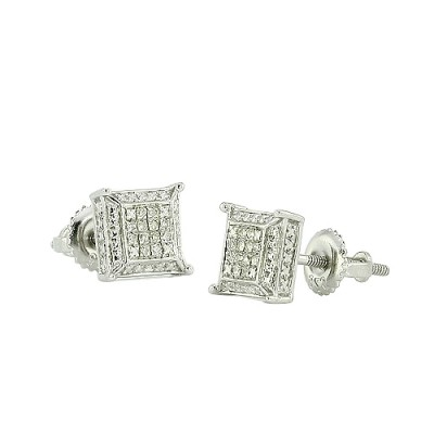 10K Diamond Dice Earrings (0.10ct)