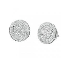 10K Diamond Disc Earrings (0.50ct)