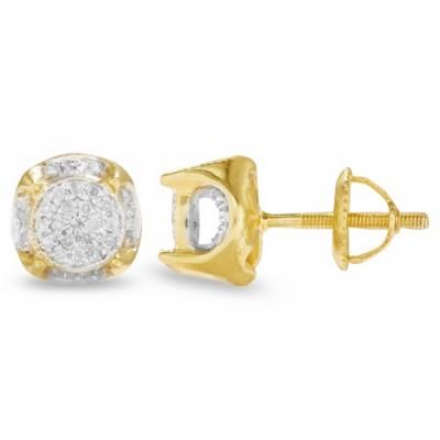 10K Diamond Disc Earrings (0.25ct)