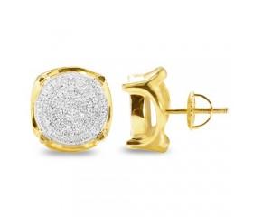 10K Diamond Disc Earrings (0.60ct)