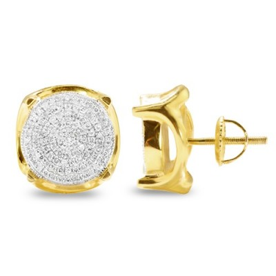 10K Diamond Disc Earrings (0.60ct)