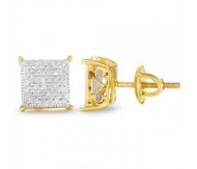 10K Diamond Cube Earrings (0.33ct)