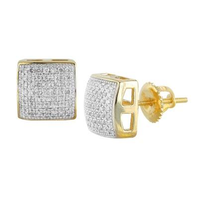 10K Diamond Cube Earrings (0.35ct)
