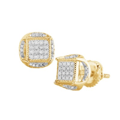 10K Diamond Disc Earrings (0.25ct)
