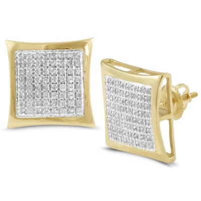 10K Diamond Kite Dome Earrings