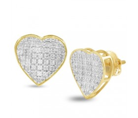 14K Diamond Inverted Heart Earrings