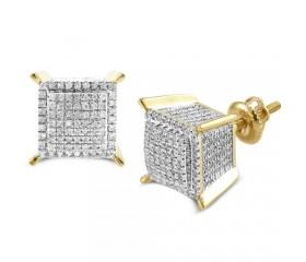 10K Diamond Dice Earring