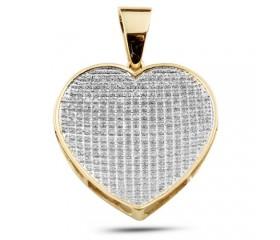 10K Diamond Inverted Heart Pendant