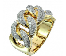 10K Diamond Cuban Ring (1.3ct)